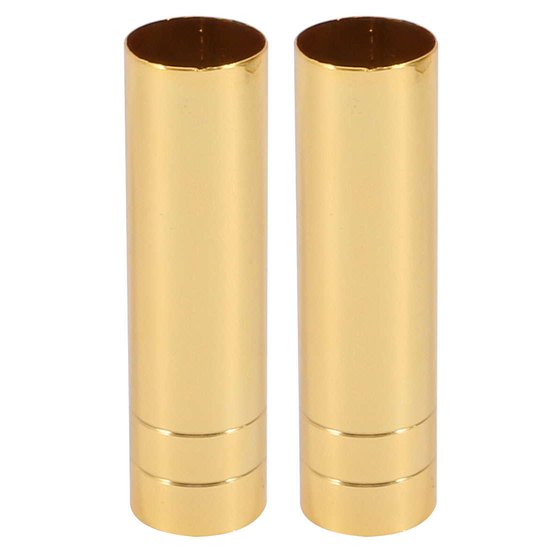 2pcs 25mmx100mm Gold Tone Metal Candle Cover Sleeves Chandelier Socket Covers