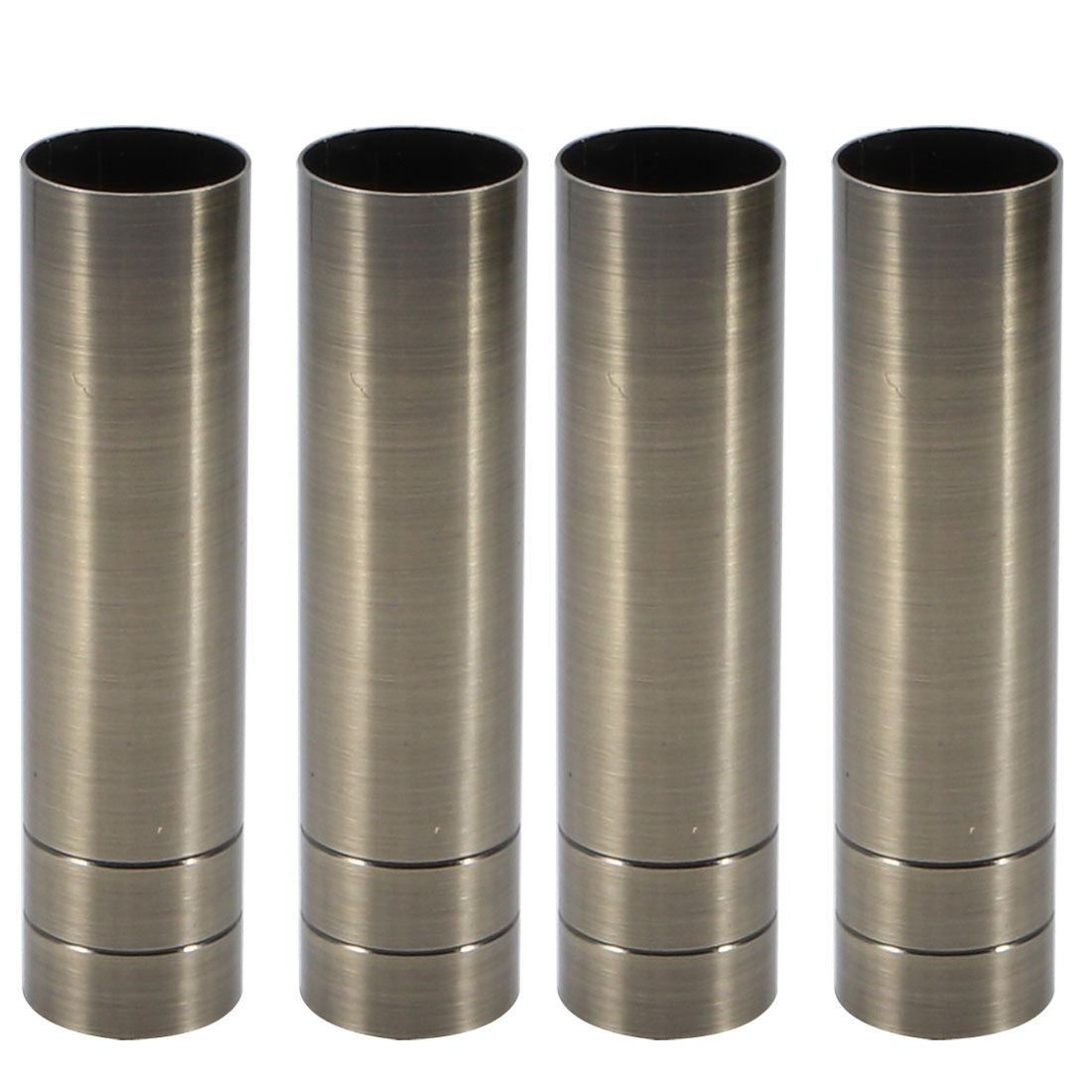 4pcs 25mmx100mm Bronze Tone Metal Candle Cover Sleeves Chandelier Socket Covers