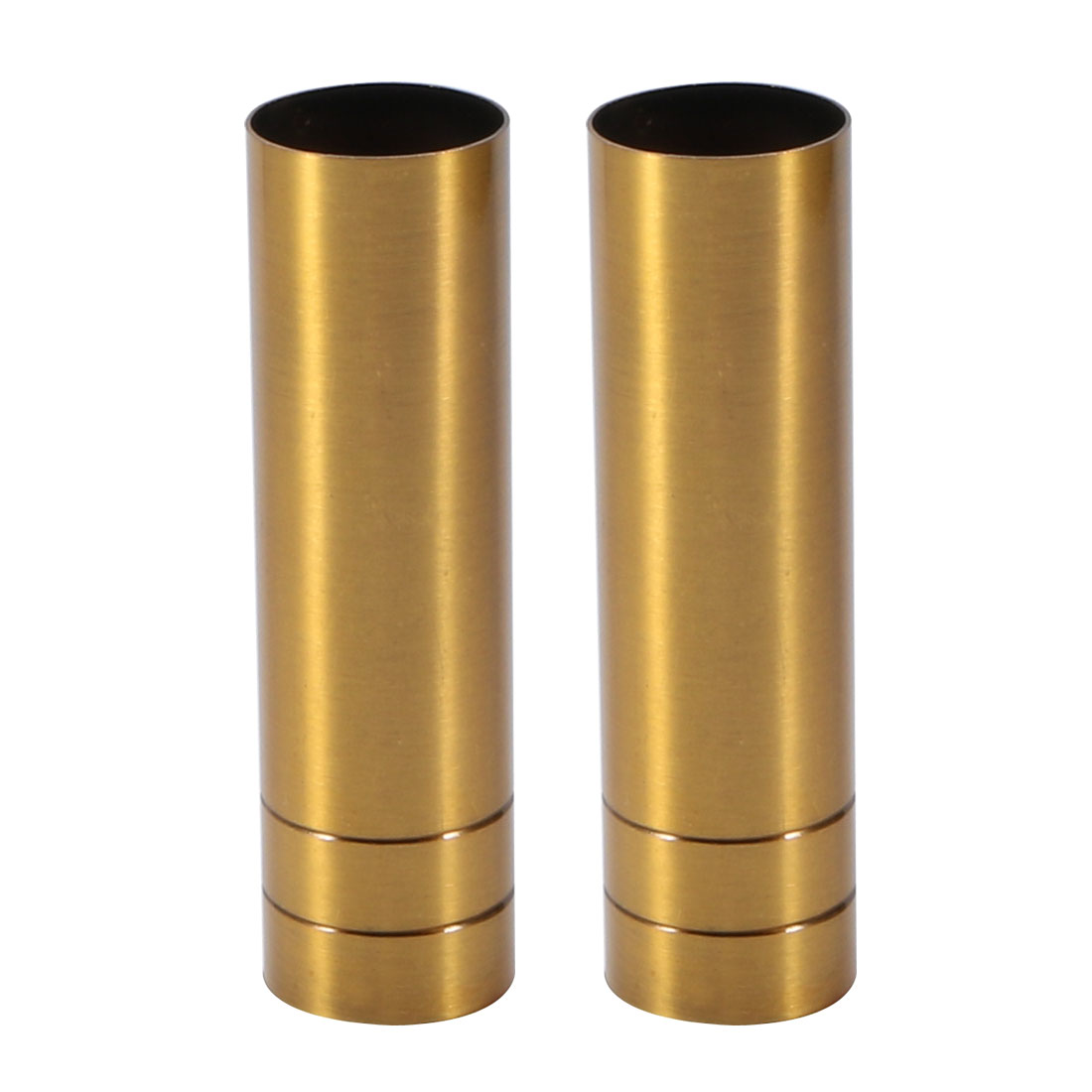 2pcs 25mmx100mm Brass Tone Metal Candle Cover Sleeves Chandelier Socket Covers