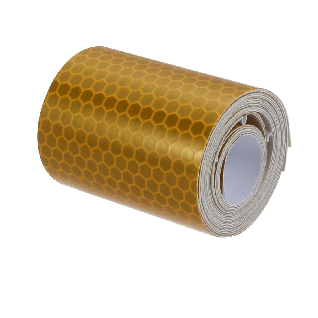5cm Width 2Meter Length Honeycomb Adhesive Reflective Warning Tape Yellow