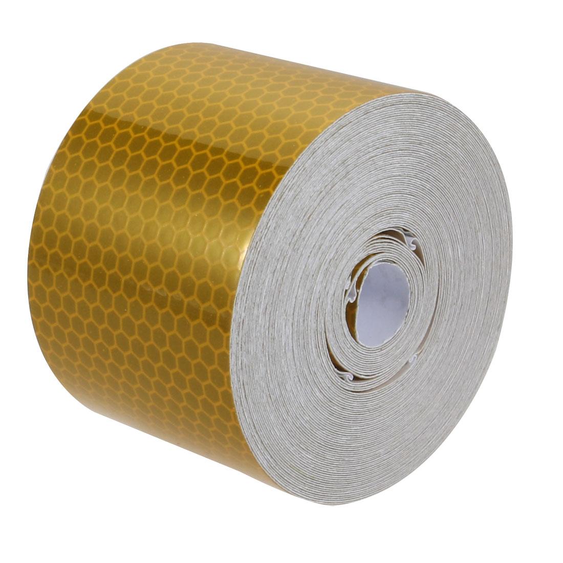 5cm Width 10Meter Length Honeycomb Adhesive Reflective Warning Tape Yellow