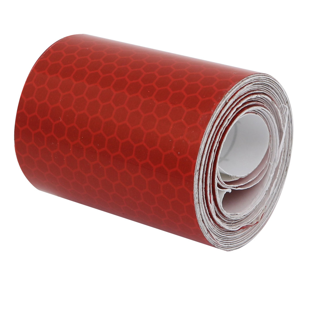 5cm Wide 2M Long Honeycomb Single Sided Adhesive Reflective Warning Tape Red
