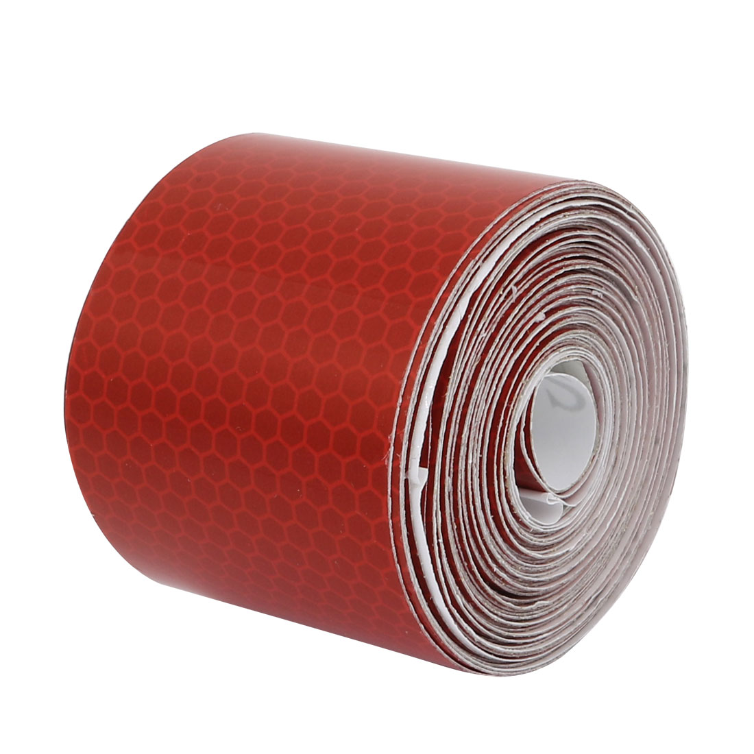 5cm Wide 6M Long Honeycomb Single Sided Adhesive Reflective Warning Tape Red