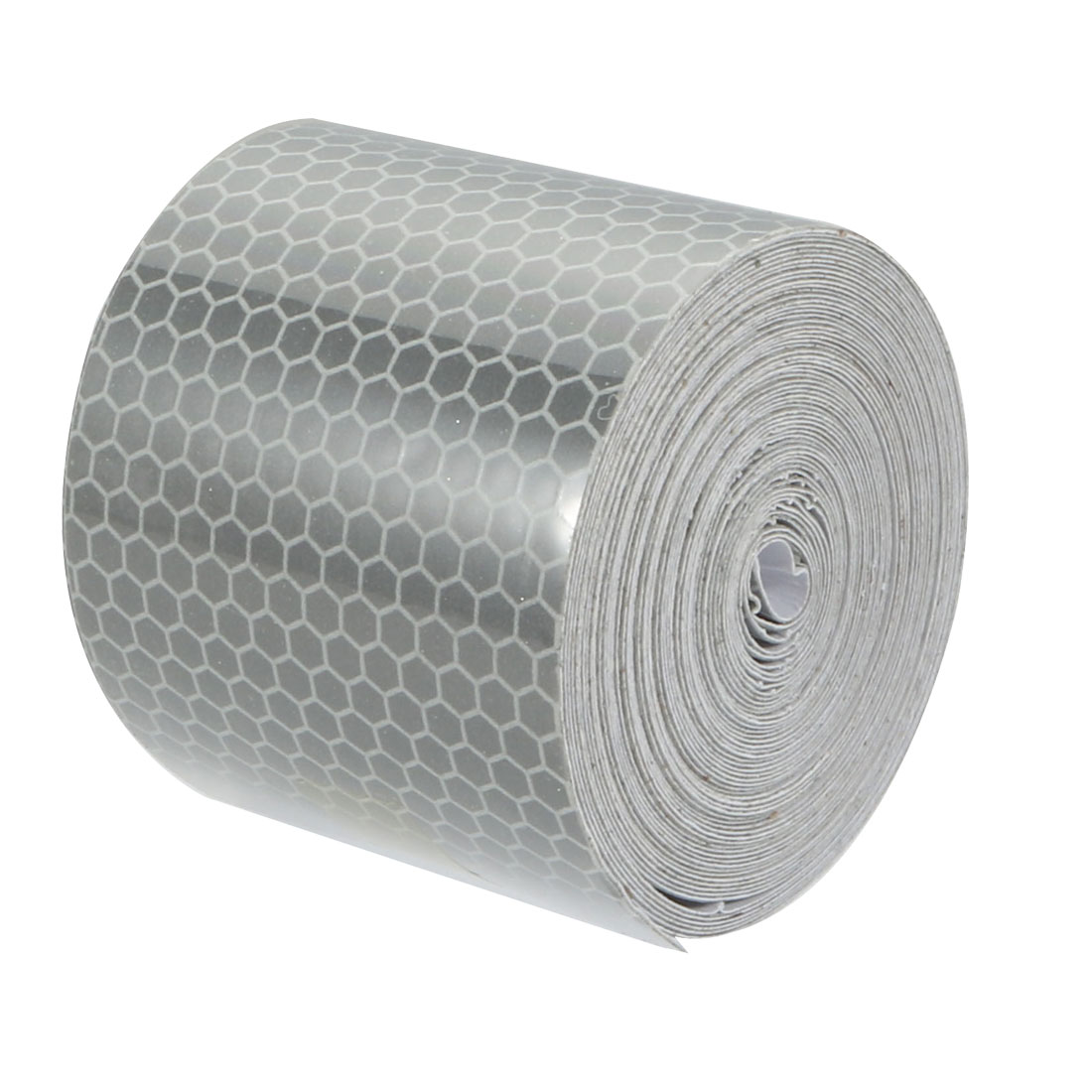 5cm Width 6M Length Honeycomb Adhesive Reflective Warning Tape Silvery White
