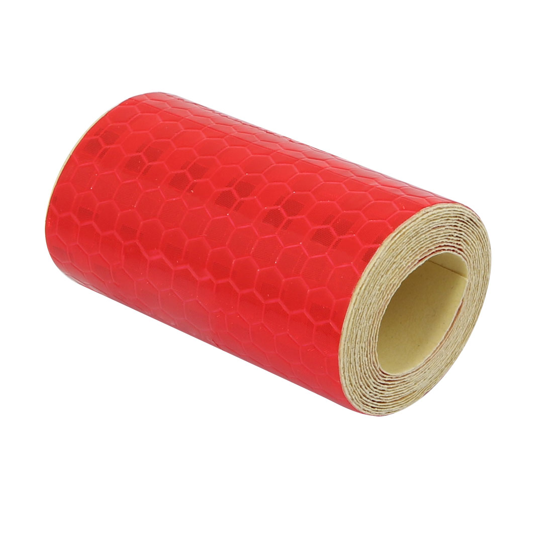 5cm Width 1M Length Honeycomb Single Sided Adhesive Reflective Warning Tape Red