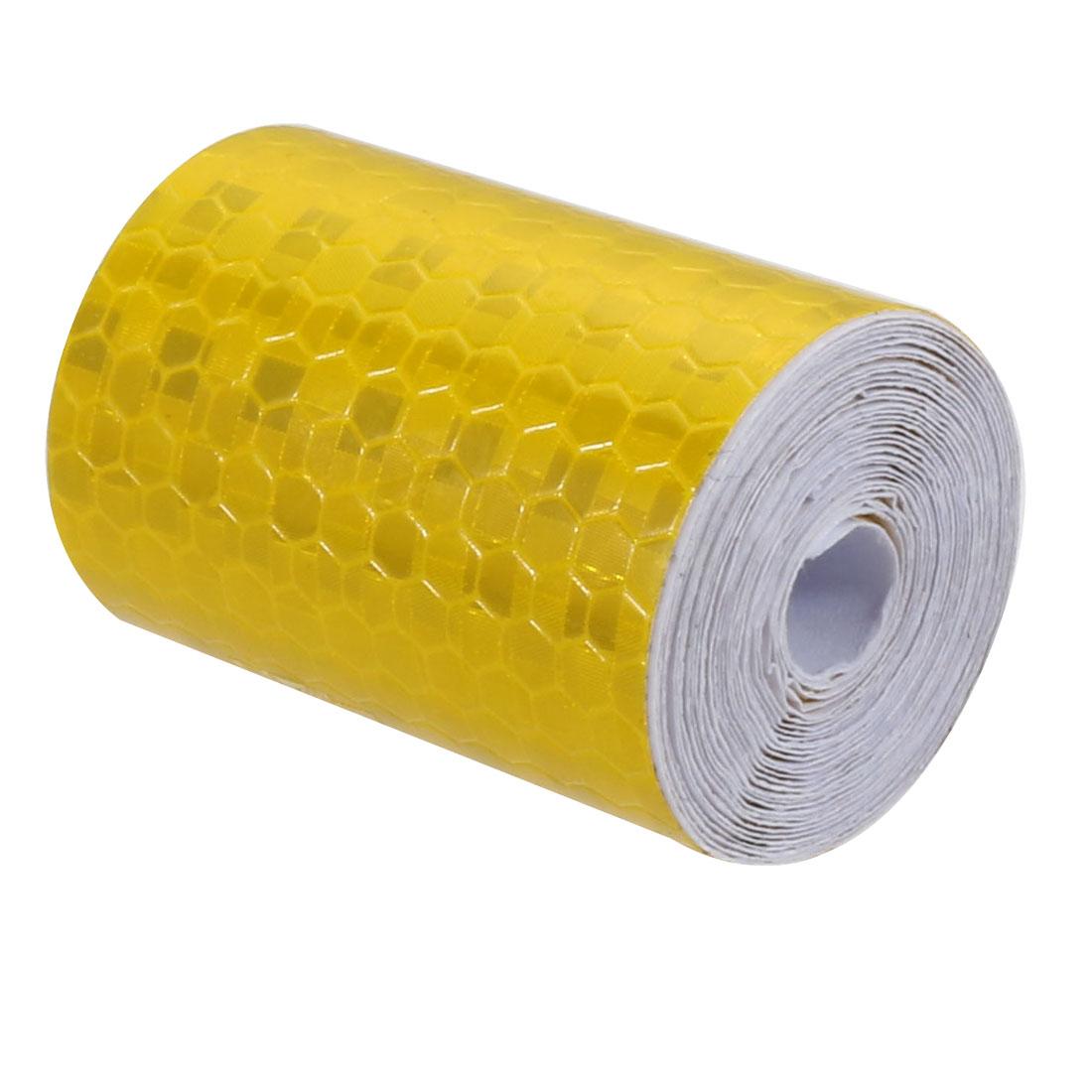 5cm Width 2M Length Honeycomb Adhesive Reflective Warning Tape Yellow