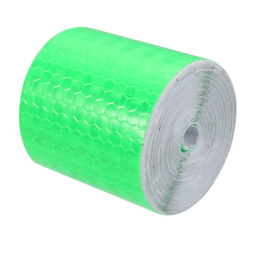 5cm Width 5Meter Length Honeycomb Adhesive Reflective Warning Tape Green