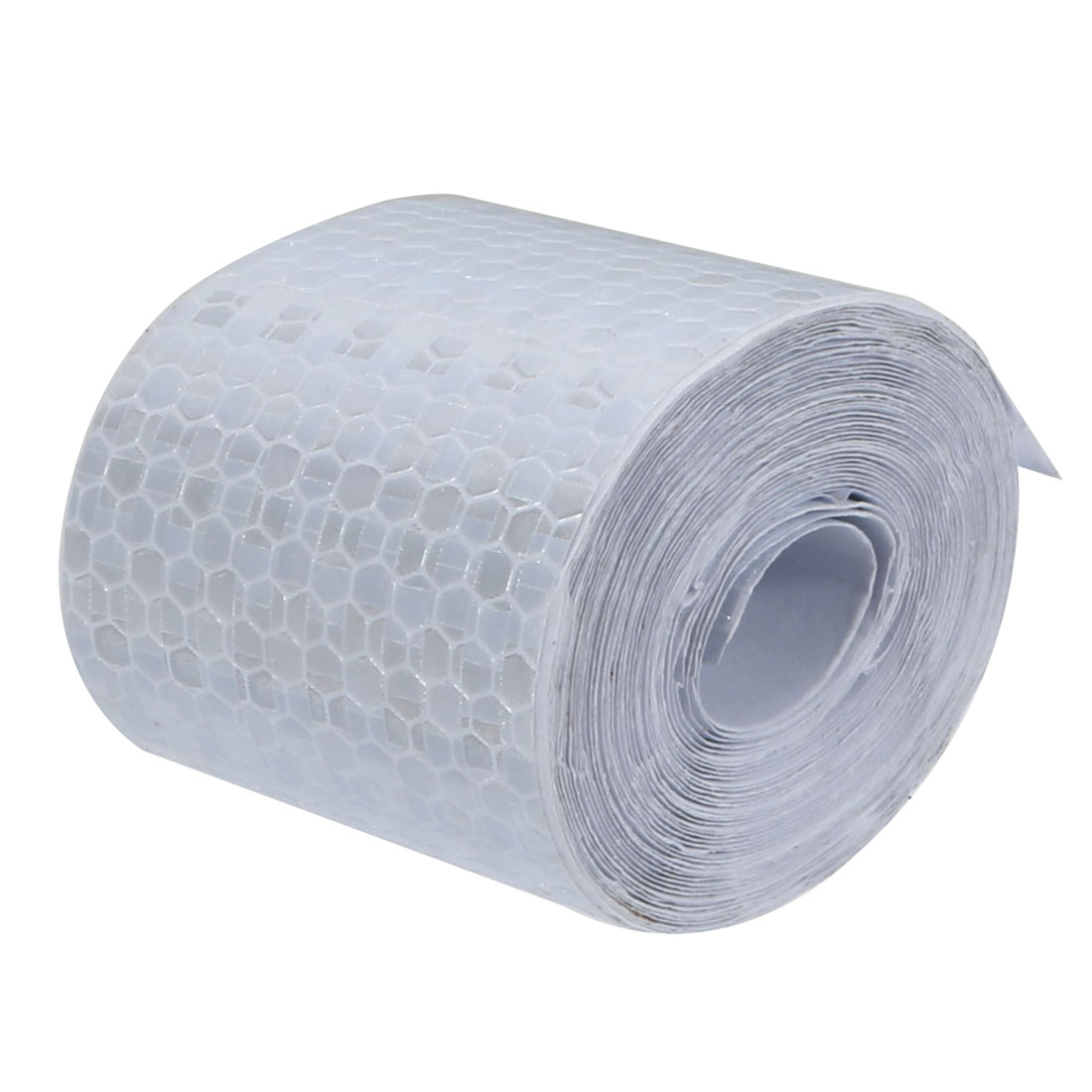 5cm Wide 5M Length Honeycomb Adhesive Reflective Warning Tape Silvery White