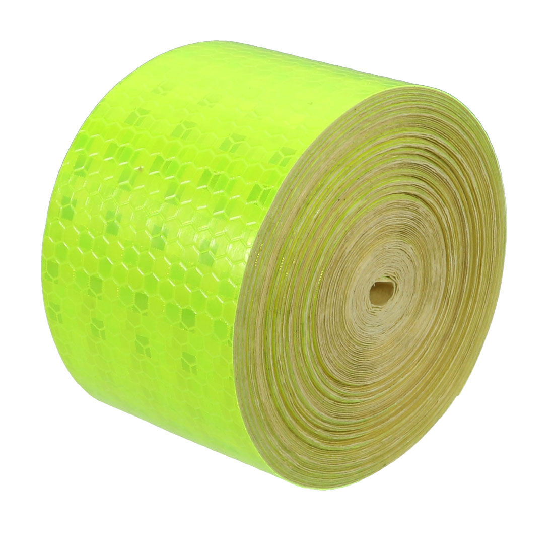 5cm Wide 15M Long Honeycomb Adhesive Reflective Warning Tape Light Yellow