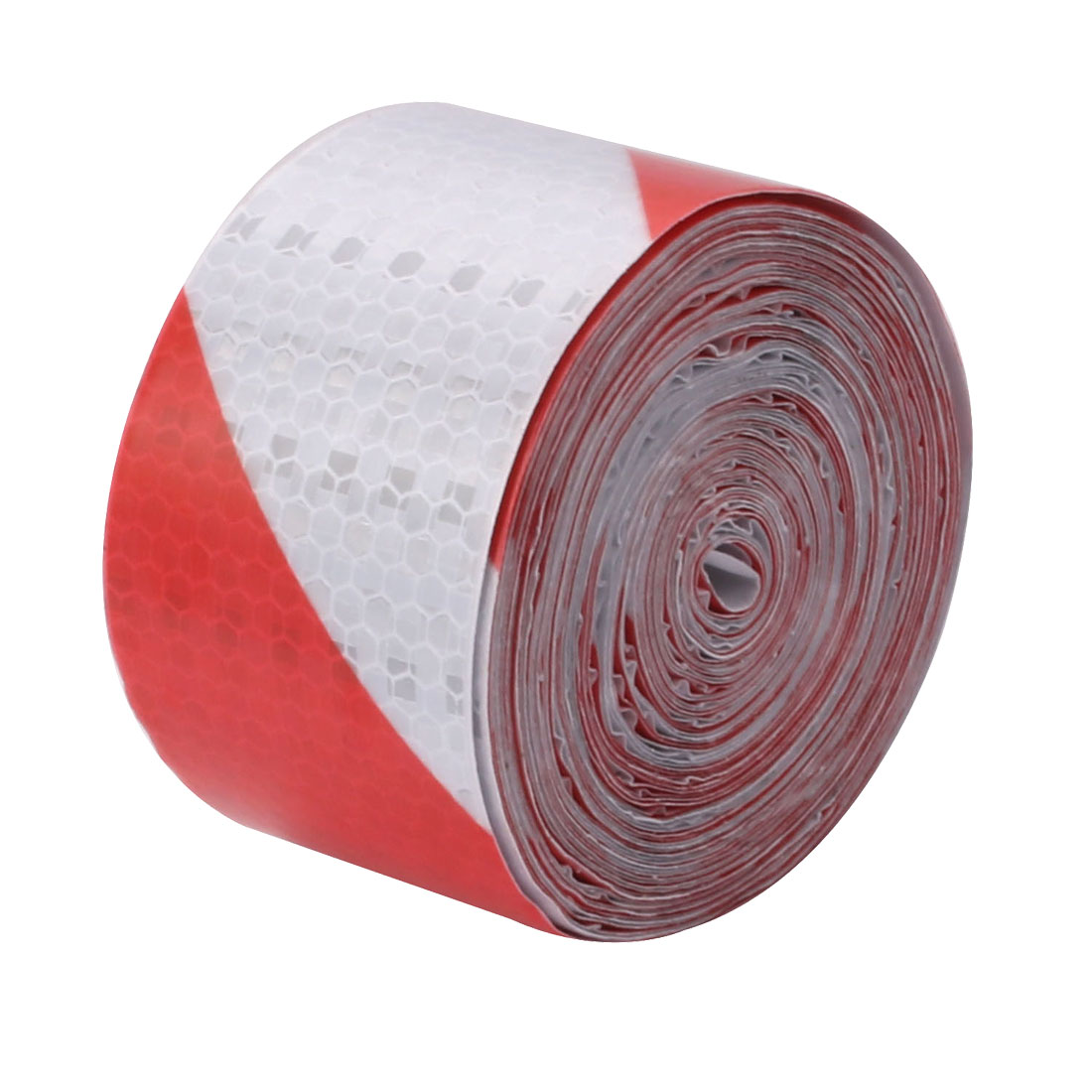 5cm Width 10M Length Single Sided Adhesive Reflective Warning Tape Red White