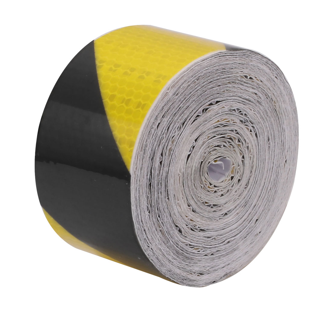 15M Length 5cm Width Single Sided Adhesive Reflective Warning Tape Yellow Black