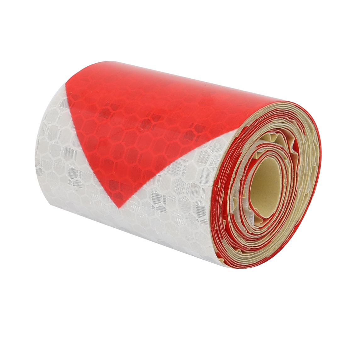 5cm Wide 2Meter Length Honeycomb Adhesive Reflective Warning Tape Red White