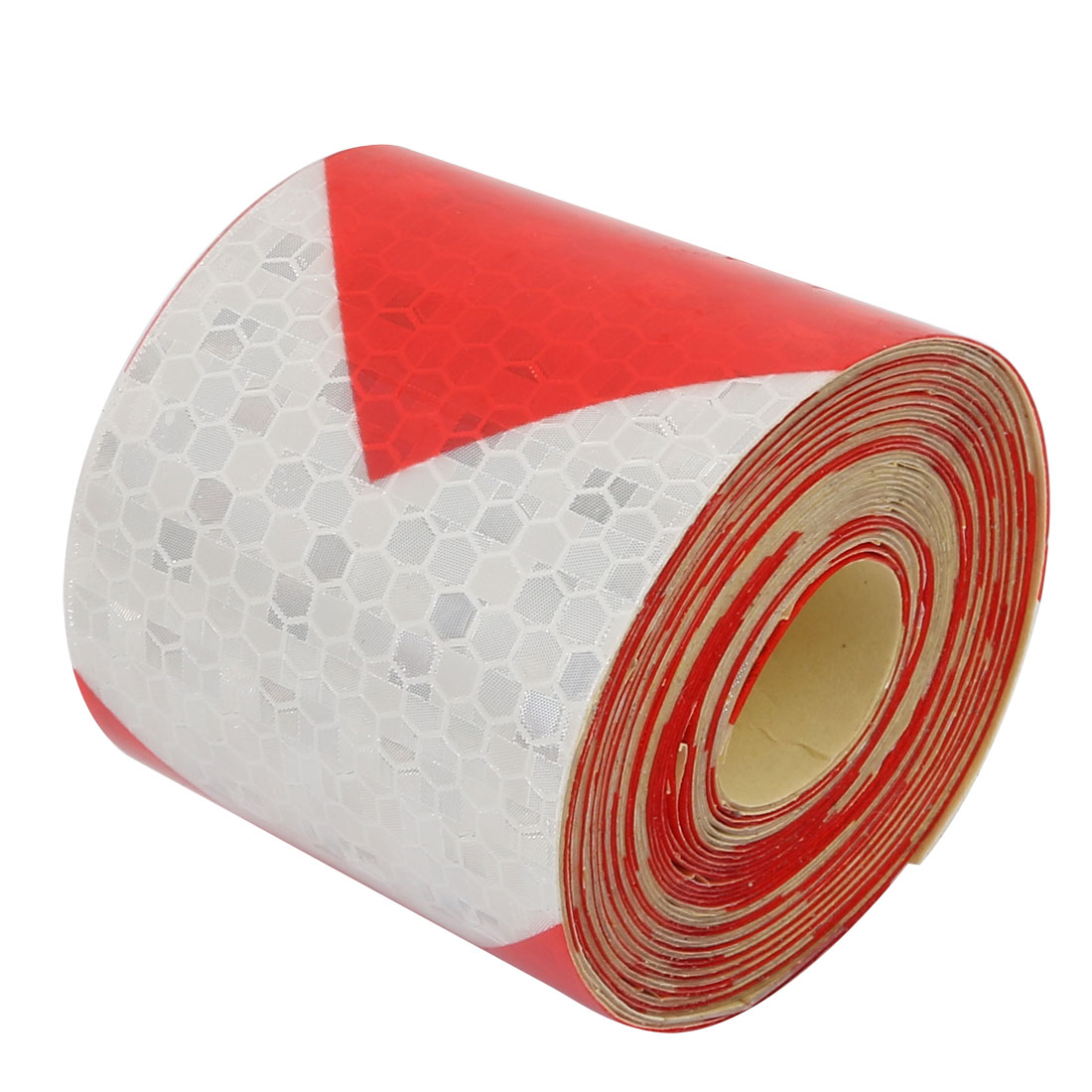 5cm Wide 5Meters Long Honeycomb Adhesive Reflective Warning Tape Red White