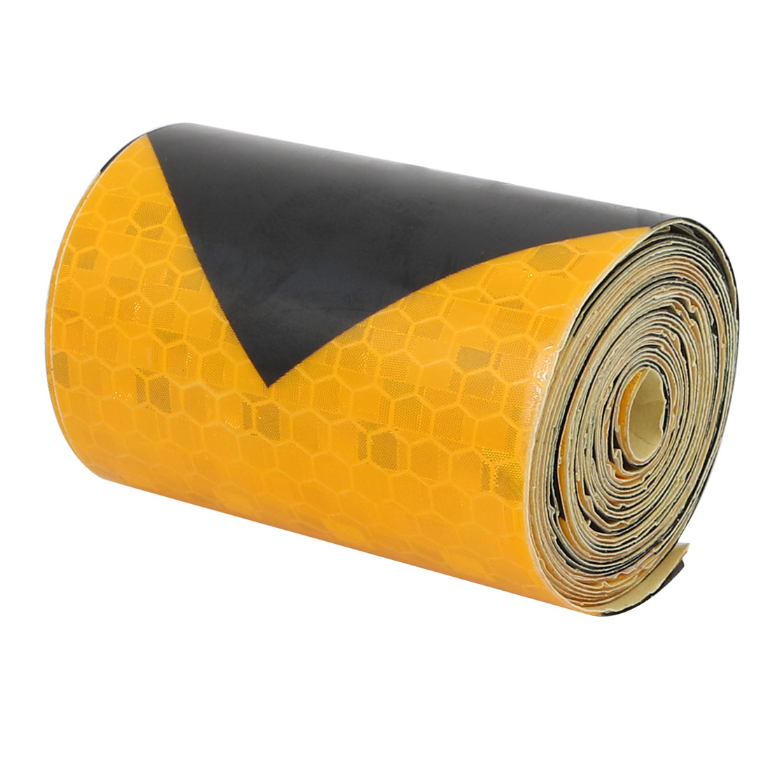 2Meter Length 5cm Width Honeycomb Adhesive Reflective Warning Tape Yellow Black