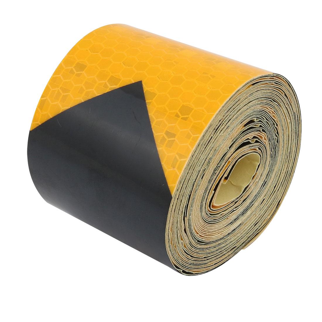 5 Meters Long 5cm Wide Honeycomb Adhesive Reflective Warning Tape Yellow Black