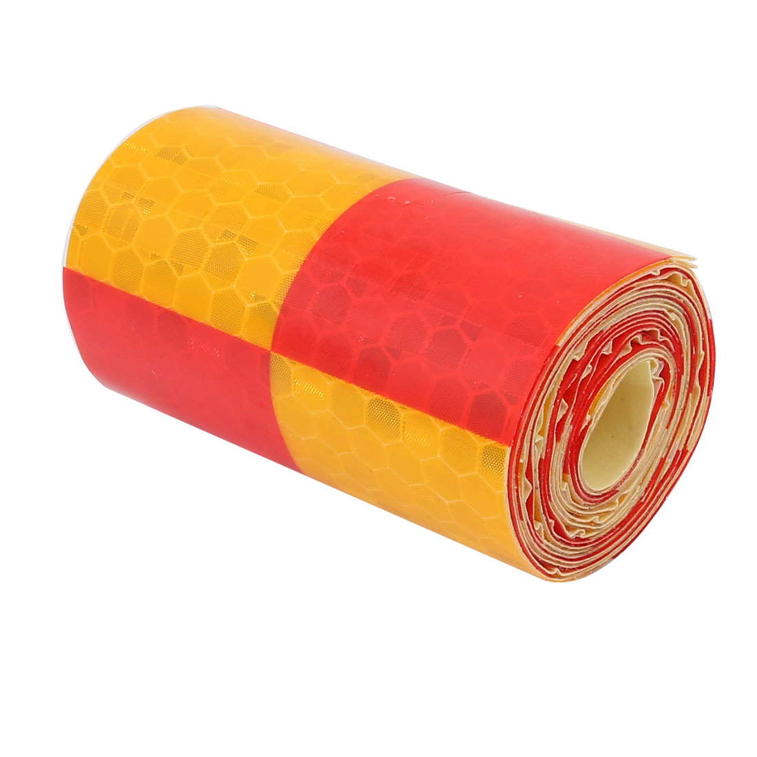 5cm Wide 1 Meter Length Honeycomb Adhesive Reflective Warning Tape Red Yellow