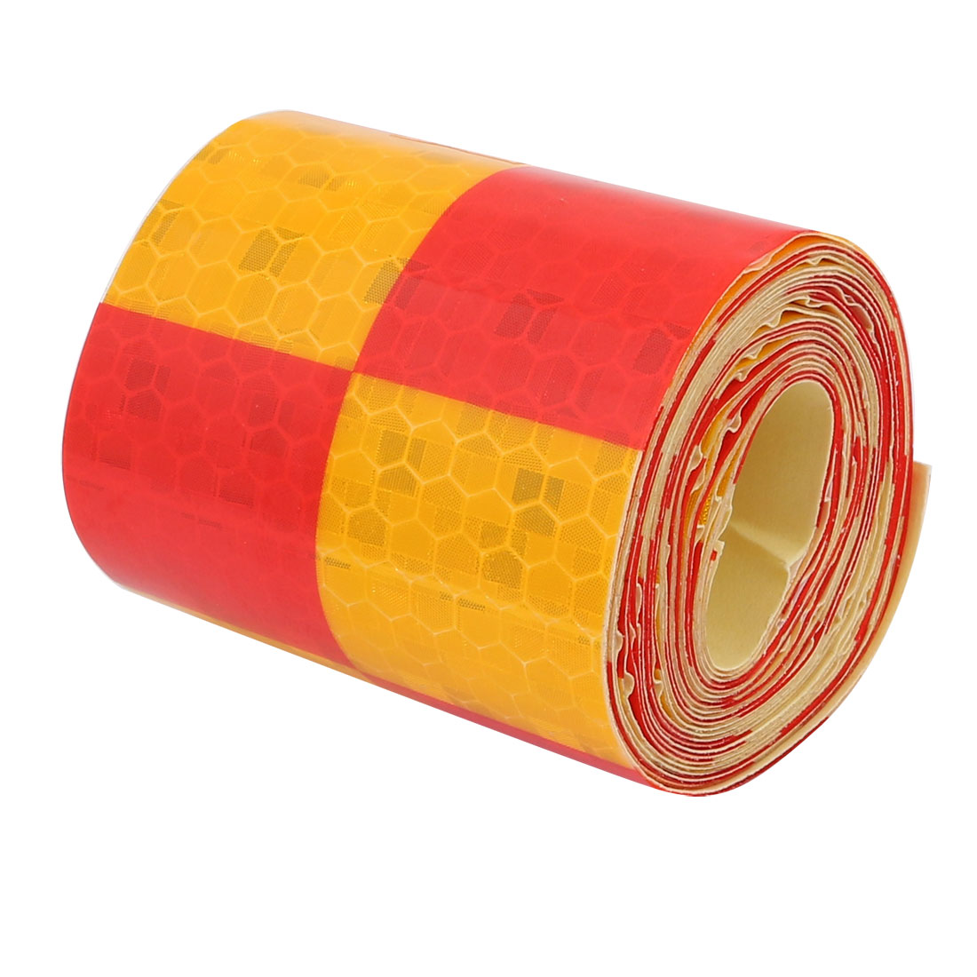 5cm Wide 2 Meter Length Honeycomb Adhesive Reflective Warning Tape Red Yellow