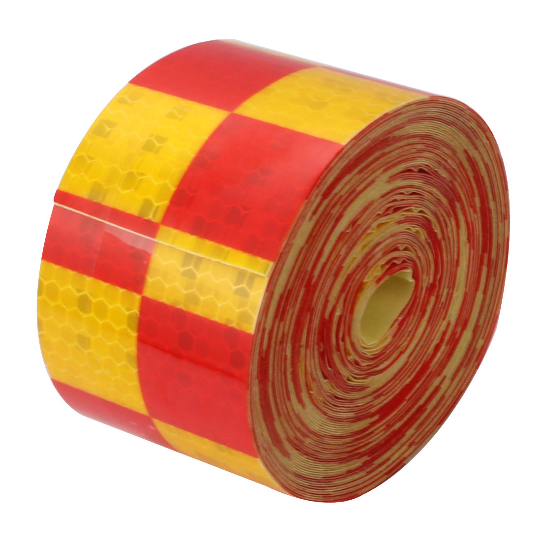 5cm Wide 10M Length Single Sided Adhesive Reflective Warning Tape Red Yellow