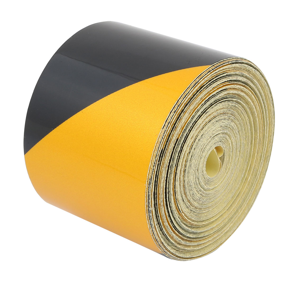 15M Long 5cm Wide Single Sided Adhesive Reflective Warning Tape Yellow Black