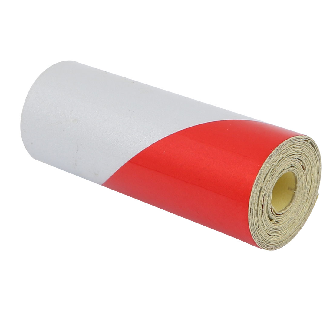 5cm Wide 1 Meter Long Single Sided Adhesive Reflective Warning Tape Red White