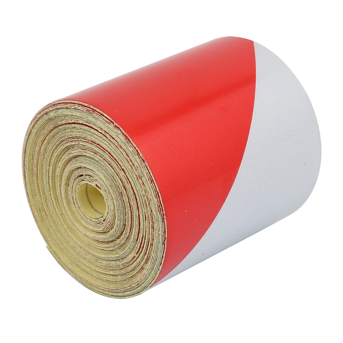 5cm Wide 7 Meters Long Single Sided Adhesive Reflective Warning Tape Red White