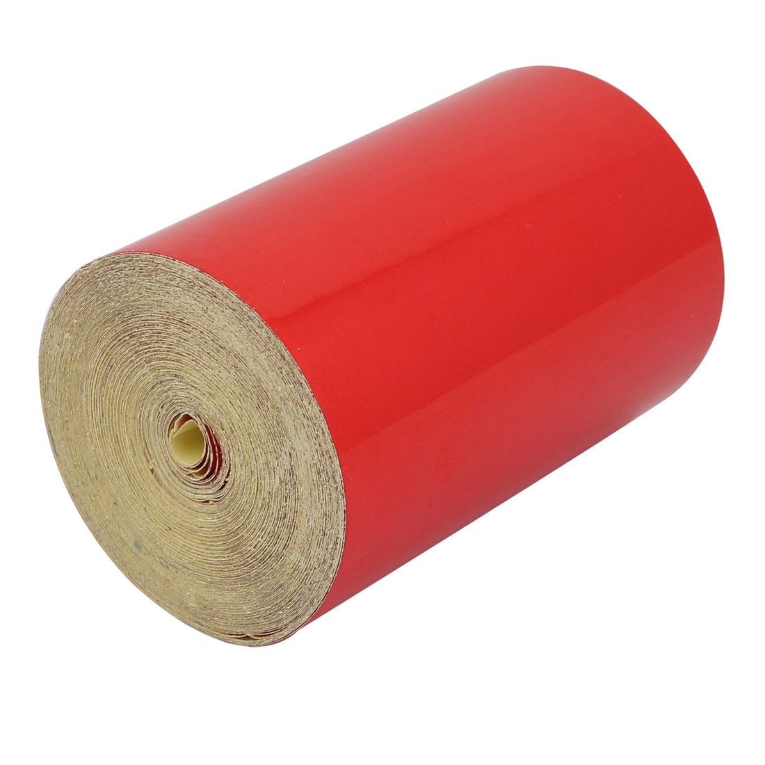 15M Length 10cm Width Single Sided Adhesive Reflective Warning Tape Red