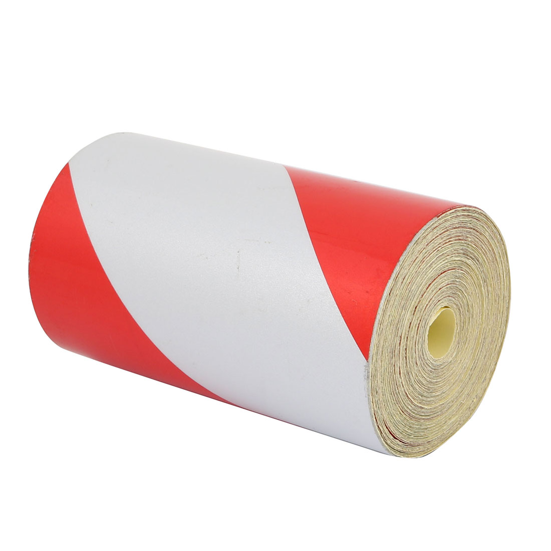 Single Side Adhesive Reflective Warning Tape Tilt 10M Long 10cm Wide Red White