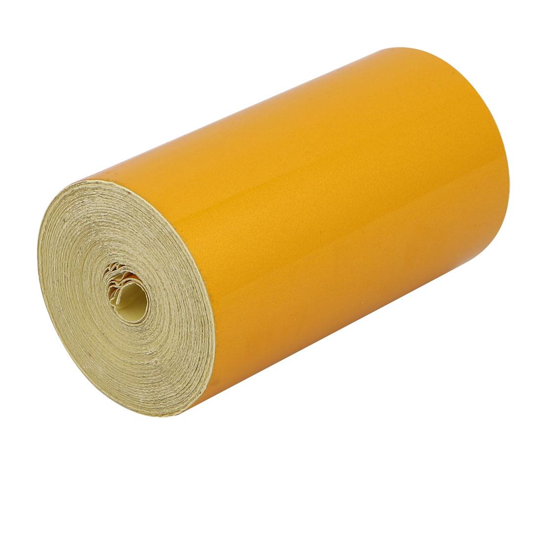 10M Length 10cm Width Single Sided Adhesive Reflective Warning Tape Tilt Yellow