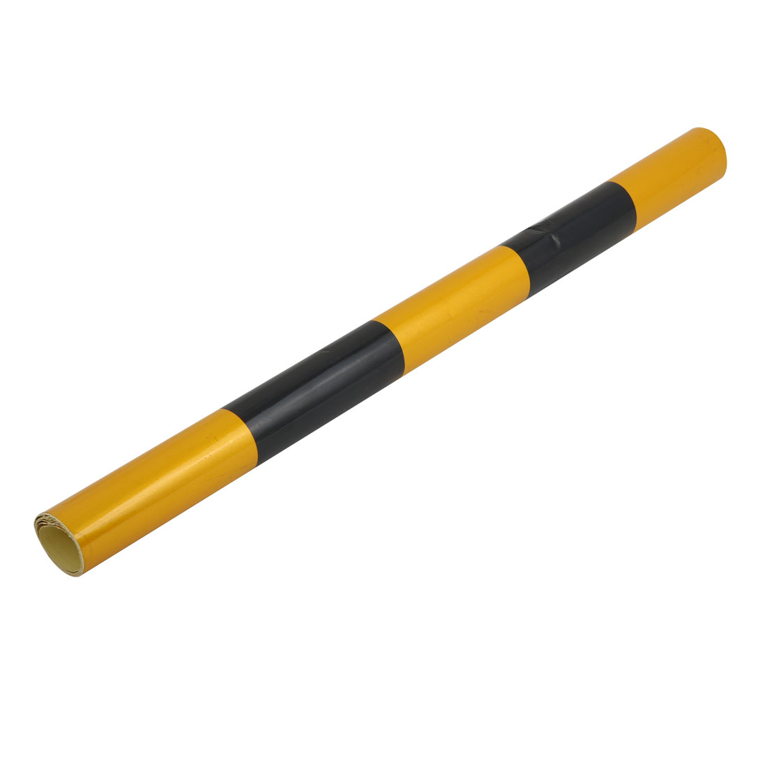 60cm Width 1M Length Single Sided Adhesive Reflective Warning Tape Black Yellow