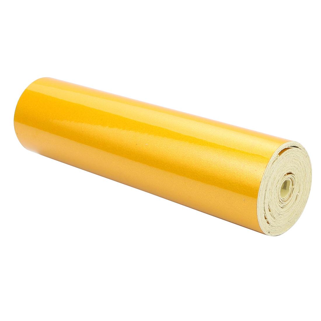15cm Width 5M Length Single Sided Adhesive Reflective Warning Tape Yellow