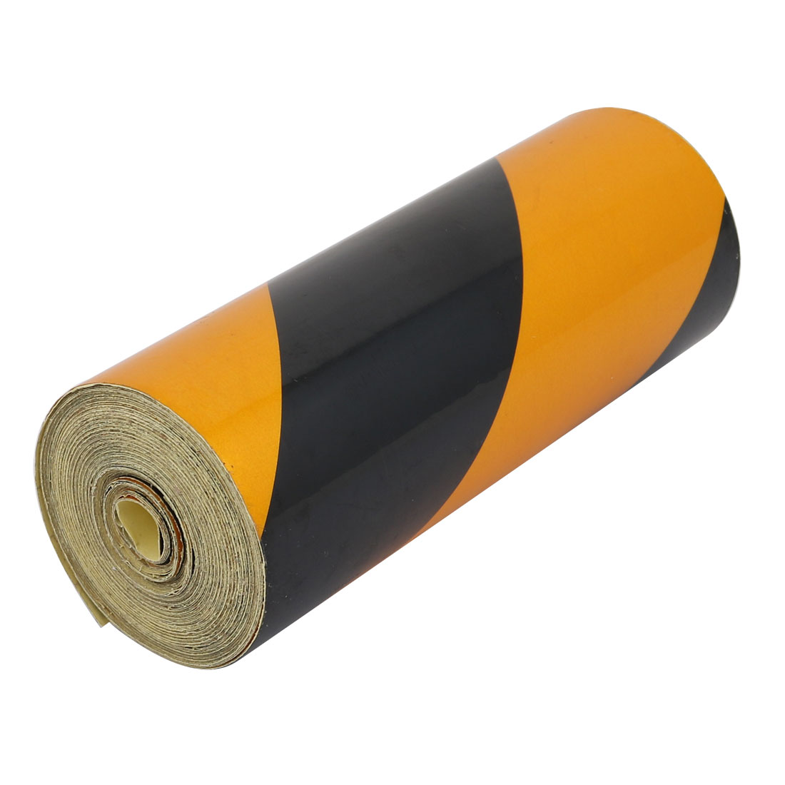 15cm Width 10M Length Single Sided Adhesive Reflective Warning Tape Yellow Black