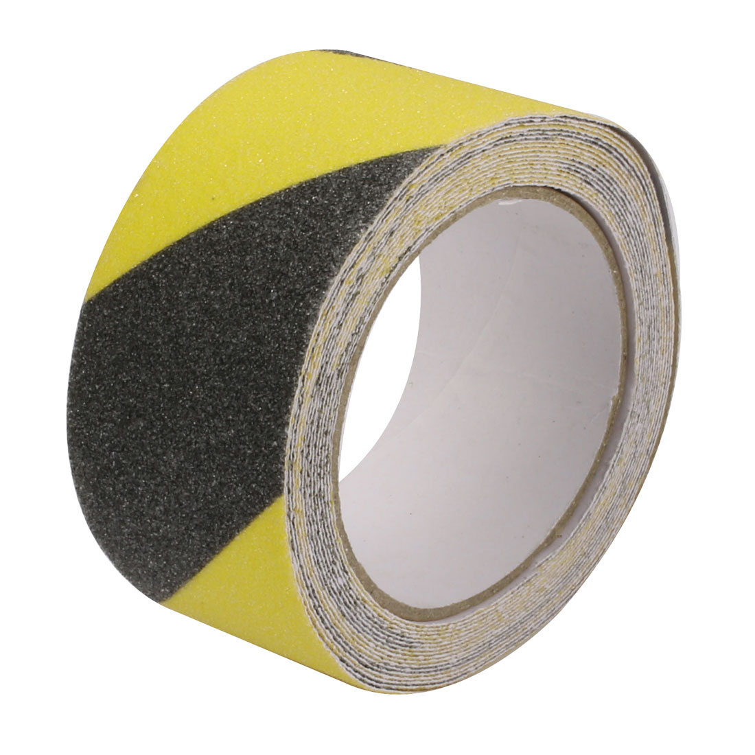 5M Long 5cm Wide Adhesive Grit Anti Slip Tape Black Yellow for Stairs Floor