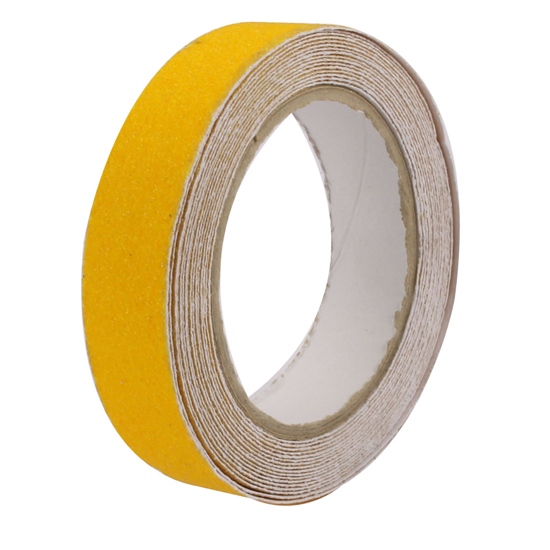 2.5cm Wide 5 Meters Long Adhesive Grit Anti Slip Tape Yellow for Stairs Floor