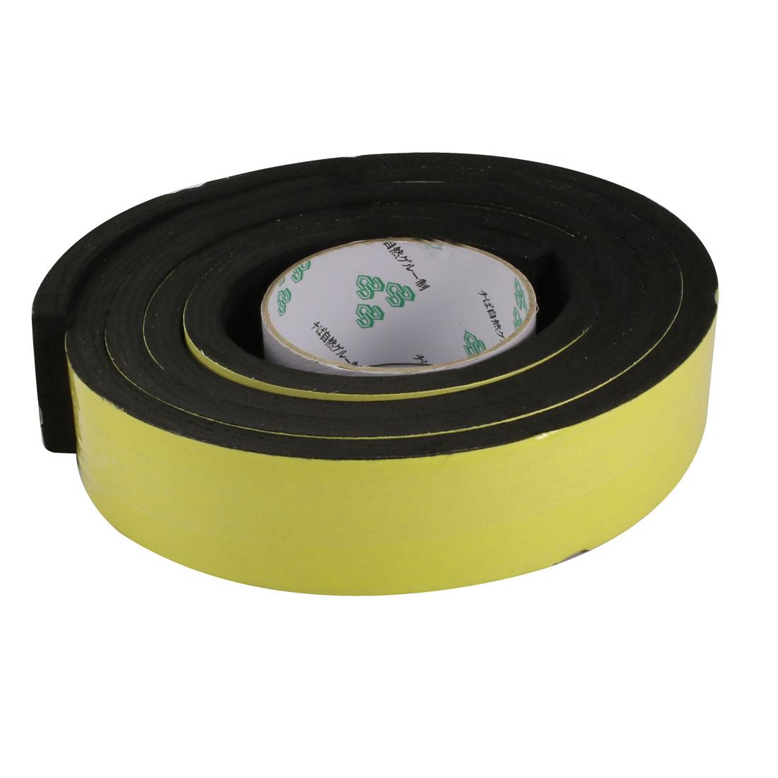 45mm Wide 10mm Thick Single Sided Shockproof EVA Sponge Tape Black 2 Meters Long