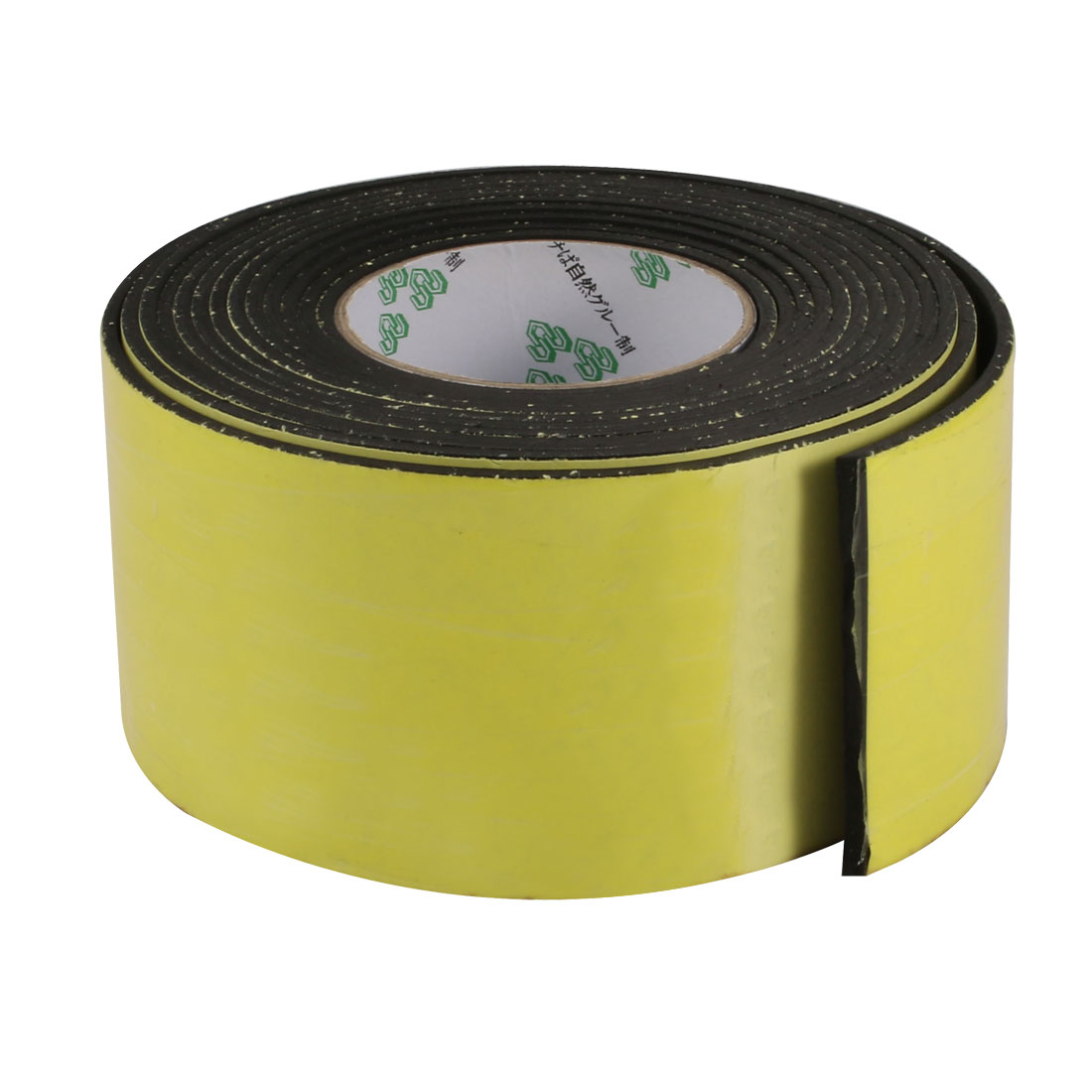 80mm Wide 3mm Thick Single Sided Shockproof EVA Sponge Tape Black 4 Meters Long