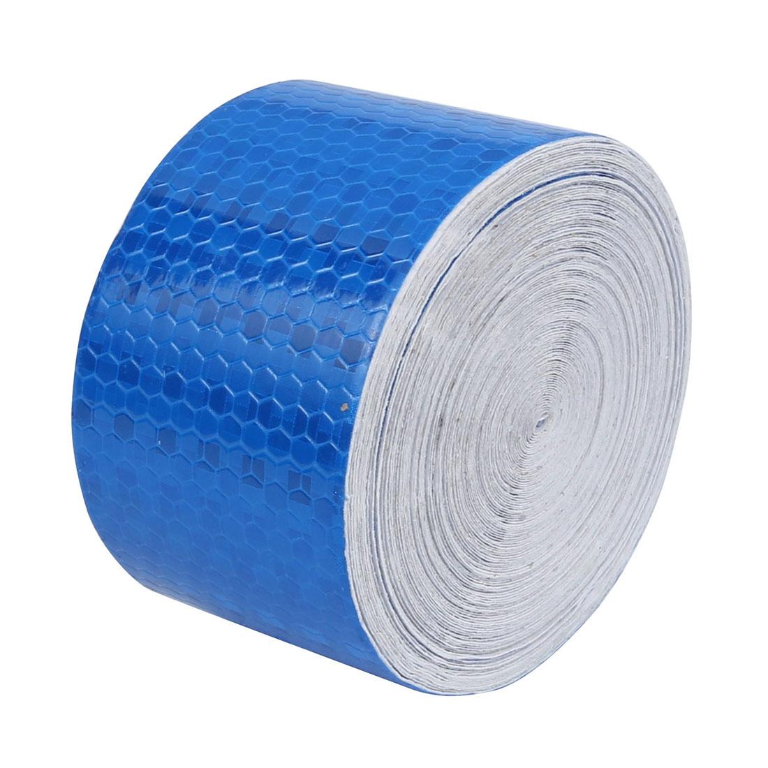 5cm Width 15M Length Single Sided Adhesive Reflective Warning Tape Blue