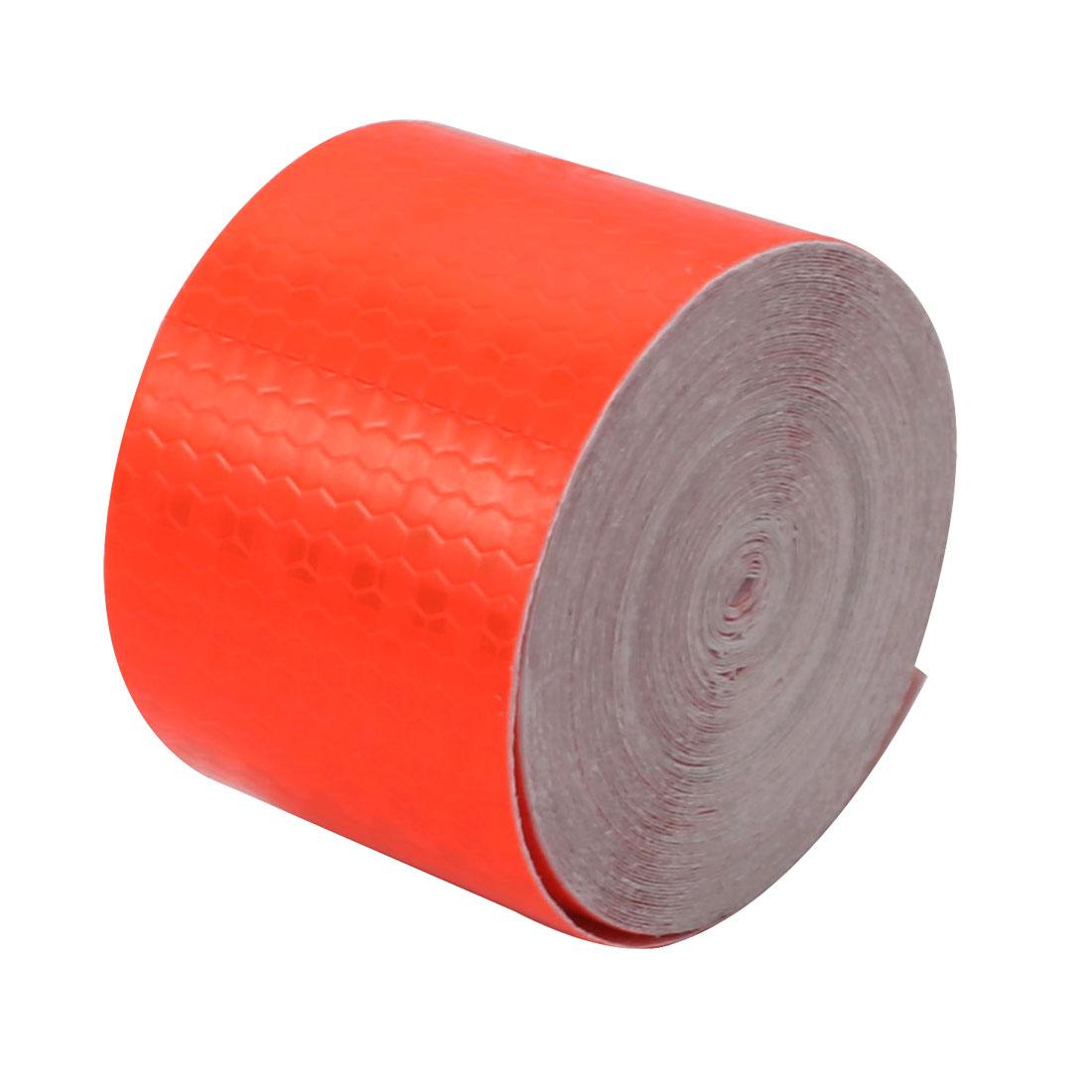 5cm Wide 10M Length Single Sided Adhesive Reflective Warning Tape Golden Orange