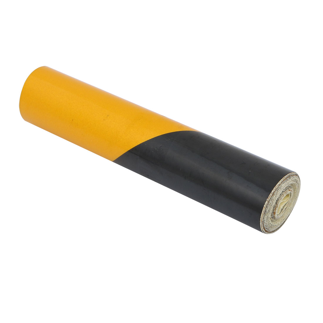 1M Length 10cm Width Single Sided Adhesive Reflective Warning Tape Yellow Black