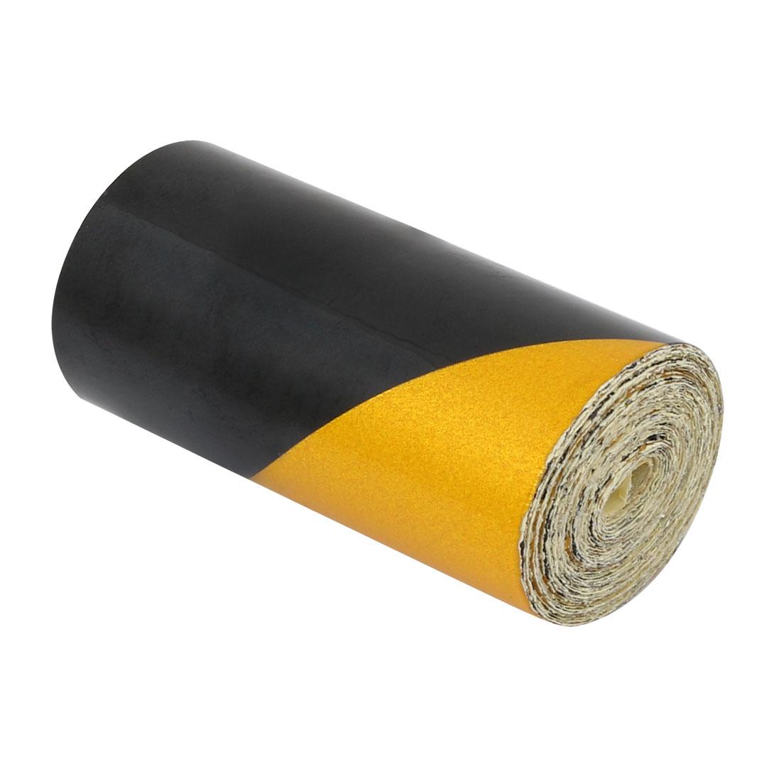 5cm Wide 2M Long Single Sided Adhesive Reflective Warning Tape Yellow Black