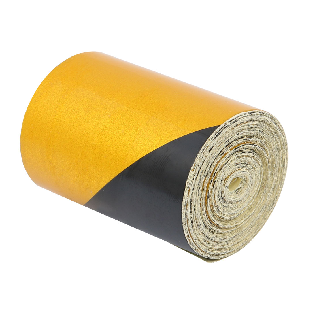 5Meters Long 5cm Wide Single Sided Adhesive Reflective Warning Tape Yellow Black