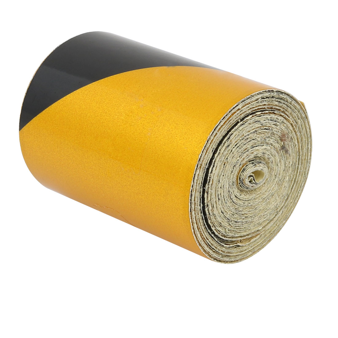 5cm Wide 6M Long Single Sided Adhesive Reflective Warning Tape Yellow Black