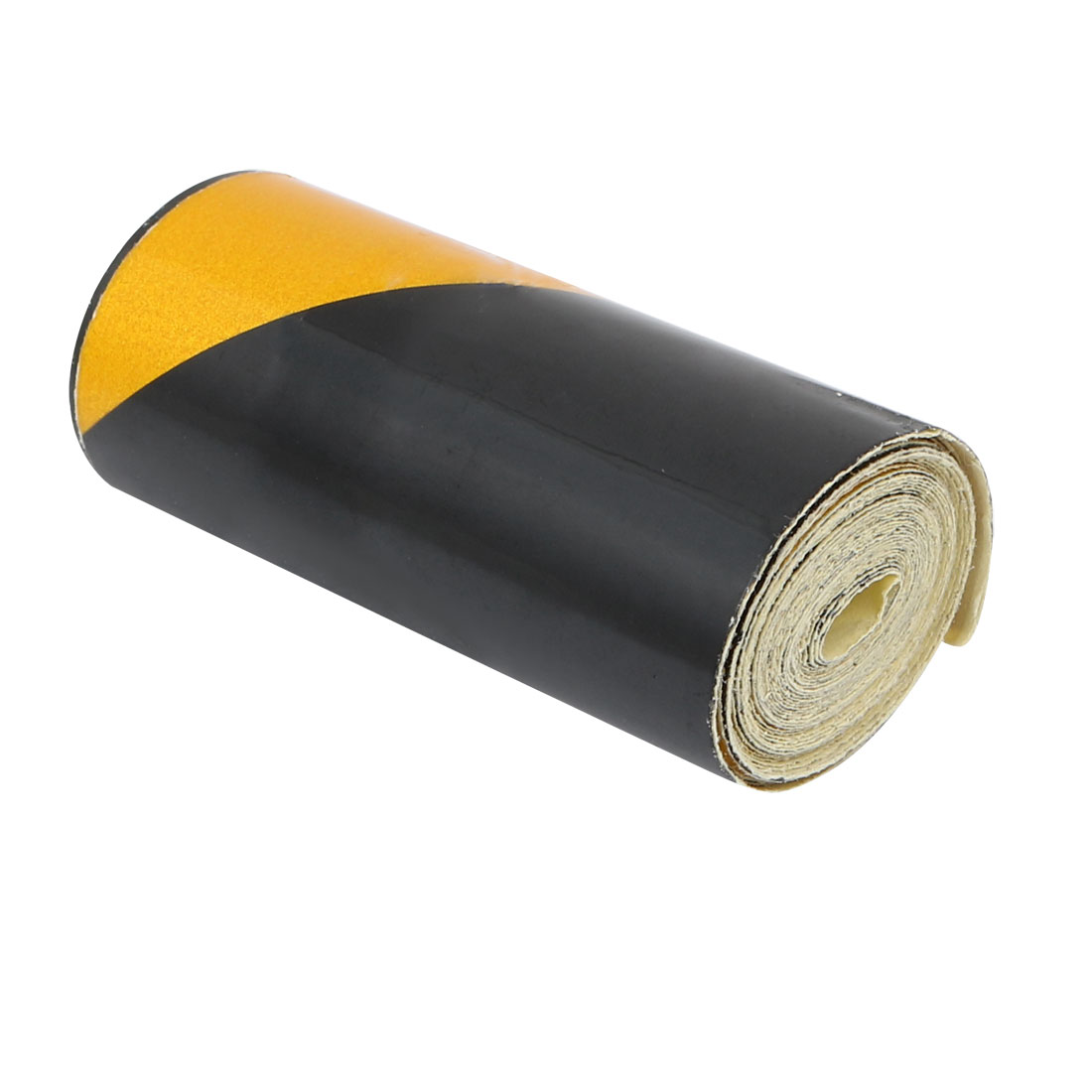 5cm Wide 1.5M Long Single Sided Adhesive Reflective Warning Tape Yellow Black