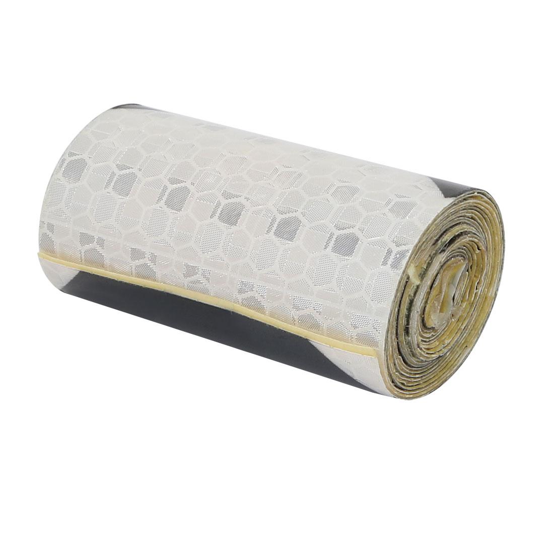 5cm Wide 1 Meter Length Honeycomb Adhesive Reflective Warning Tape Black White