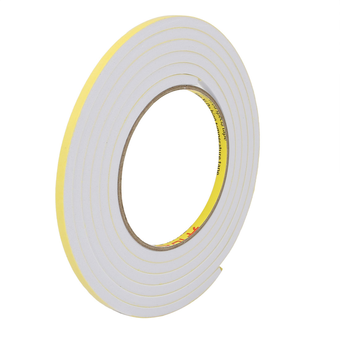 5mm Wide 5mm Thick Single Sided Shockproof EVA Sponge Tape White 2 Meters Long