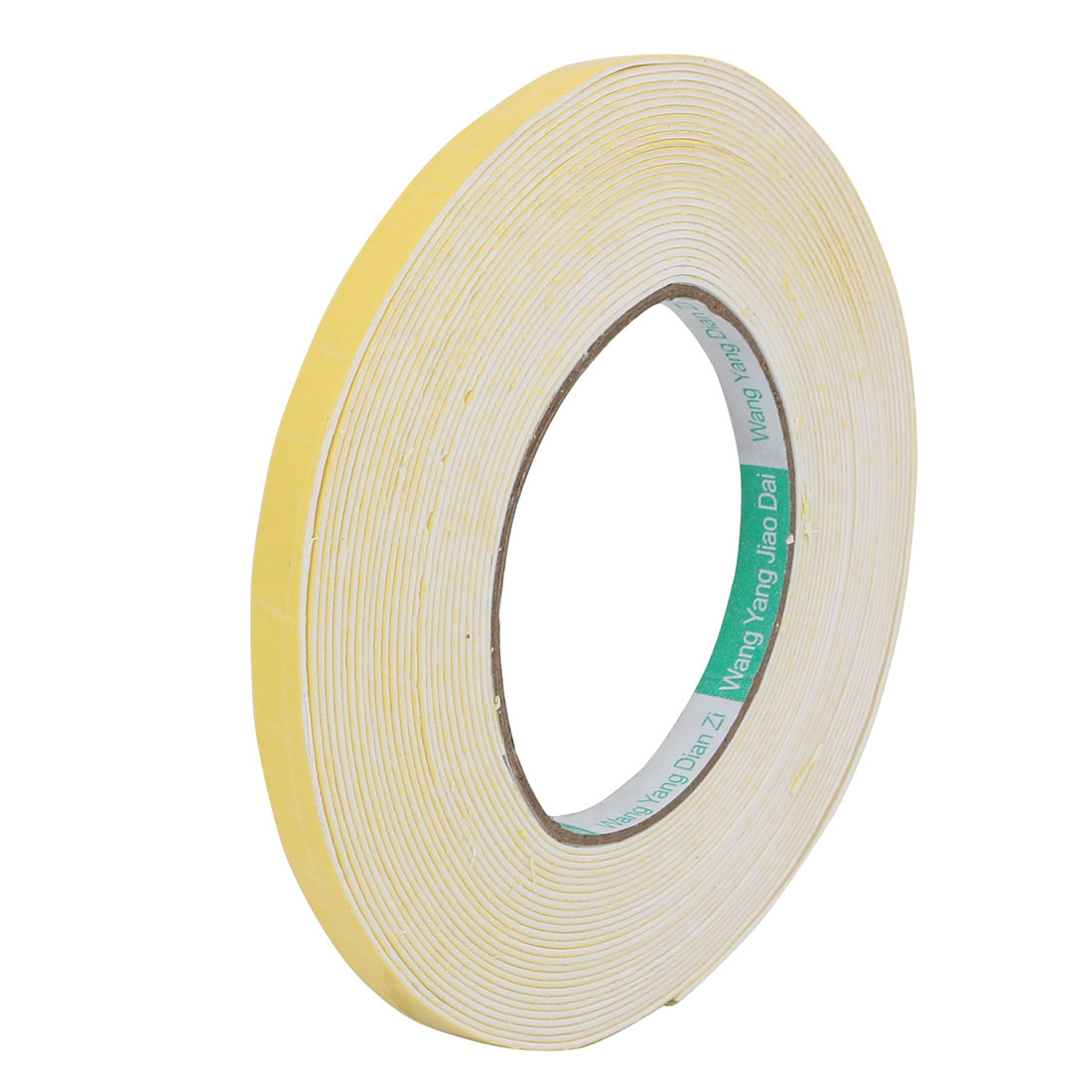 10mm Width 1mm Thickness Single-Side Sealed Sponge Tape Red 10M Length Yellow