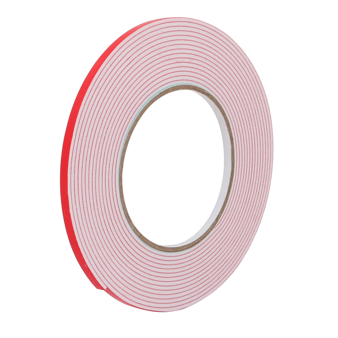 5mm Wide 2mm Thick Single Sided Shockproof EVA Sponge Tape White 5 Meters Long