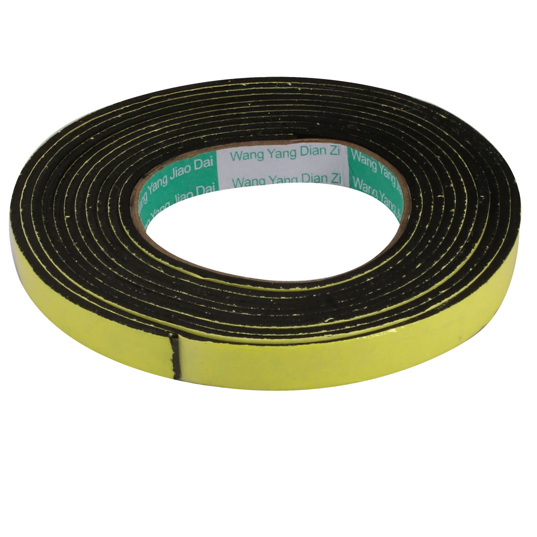 15mm Wide 4mm Thick Single Sided Shockproof EVA Sponge Tape Black 3 Meters Long