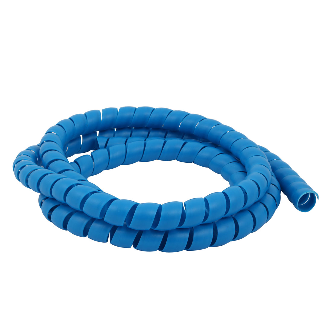 Flexible Spiral Tube Cable Wire Wrap Blue Manage Cord 16mm Dia x 2 Meter Long