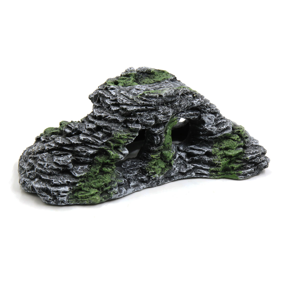 Dark Gray Resin Turtle Climb Stone Ramp Habitat Decor Ornament for Aquarium