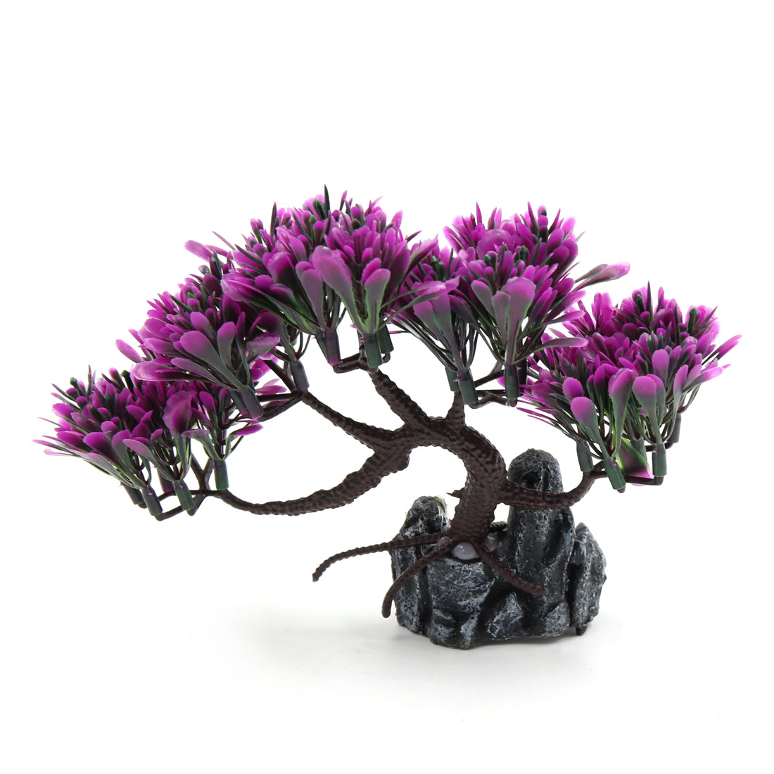 Aquarium Decorative Plastic Plant Aqua Landscape Ornament Home Decoration Purple